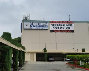 The city-owned land occupied by the Meridian Sports Club, seen here, has been identified as property the city would be willing to sell.
